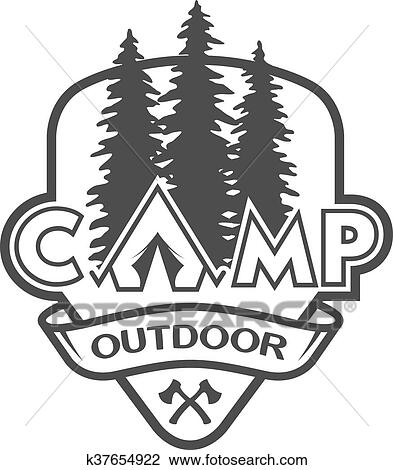 Clipart Of The Camp Outdoors Hiking K37654922