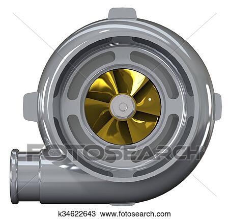 Turbo Compressor 3d Render Desenho K34622643 Fotosearch