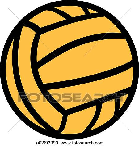 clip art of water polo ball in two colors k43597999 search clipart rh fotosearch com Water Polo Ball Drawing Water Polo Ball Icon.png