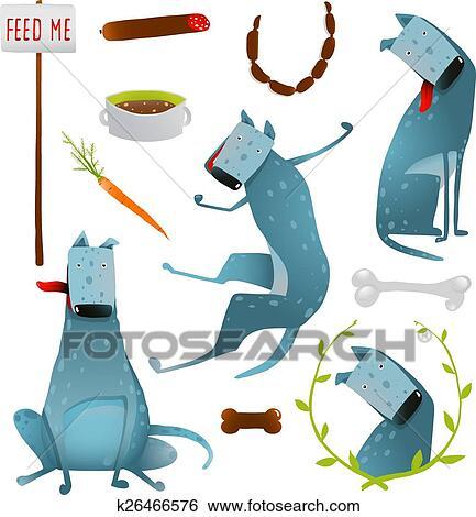 クリップアート 供給 幸せ 空腹 犬 健康な 食事療法 クリップ