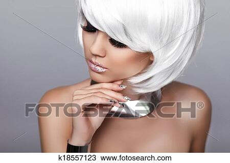 Stock Photo Of Beauty Fashion Blond Girl Portrait Of Sexy Woman