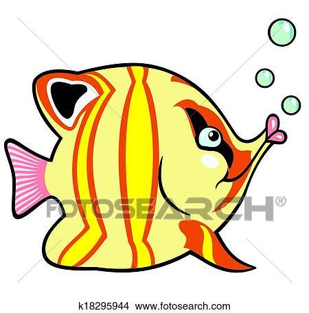Cartoon Aquarium Fish Clipart