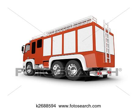 drawings of firetruck isolated back view k2688594 search clip art