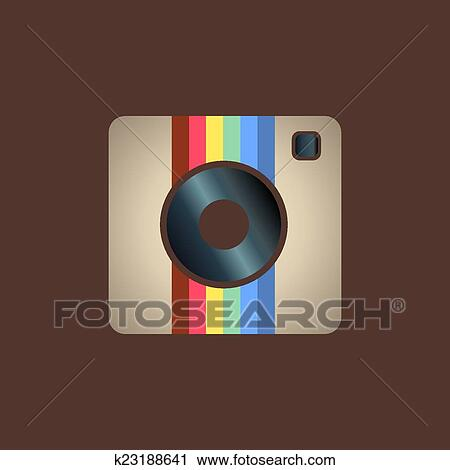 Instagram Icona Clipart K23188641 Fotosearch