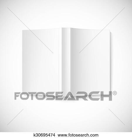 Ouvert Livre Blanc Couverture Sommet Vue Banque D Illustrations