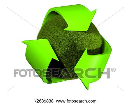 Stock Illustration Of Recycle Symbol K2685838 Search Eps Clip Art