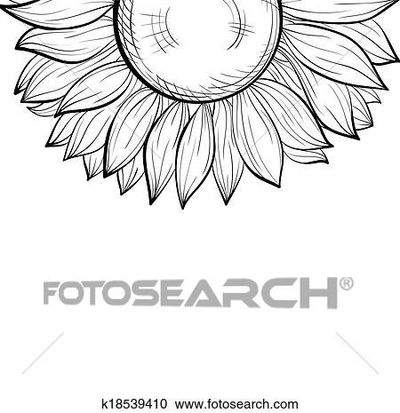 Clipart - schön, monochrom, schwarz weiß, hintergrund, mit, a ...
