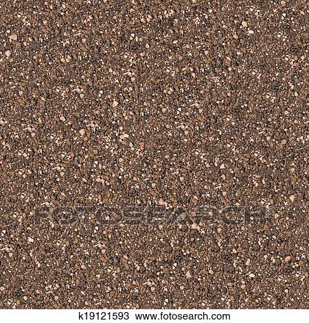 Brown Mixed Soil With Small Stones Seamless Tileable Texture