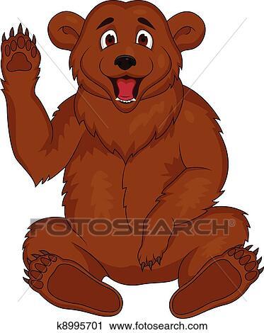 clipart urso marrom caricatura k8995701 busca de ilustrações