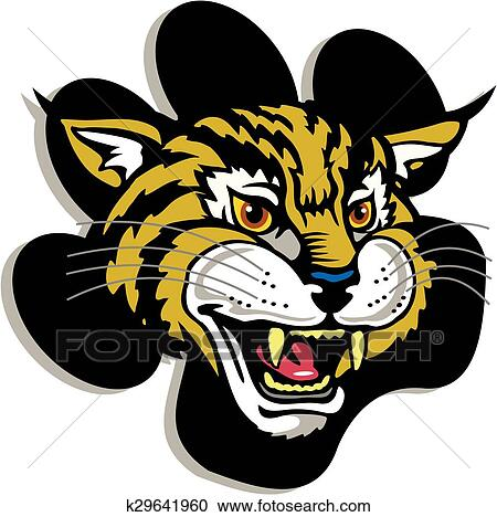 Wildcat Mascot Clipart K29641960 Fotosearch