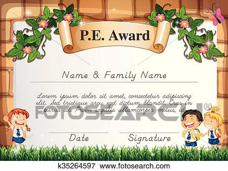 Certificate Template For Pe Award Clip Art