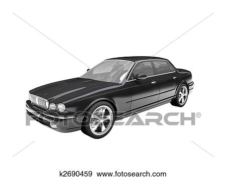 Stock Illustration Of Isolated Black Car Front View 03 K2690459