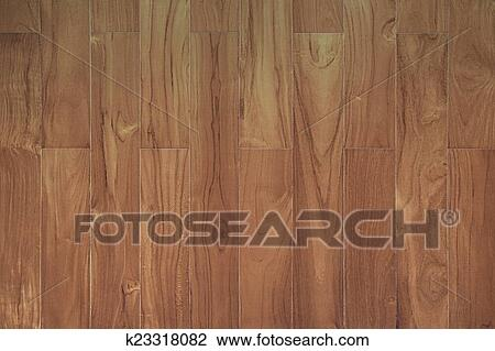 Pattern Of Teak Wood Board Texture With Vertical Strip