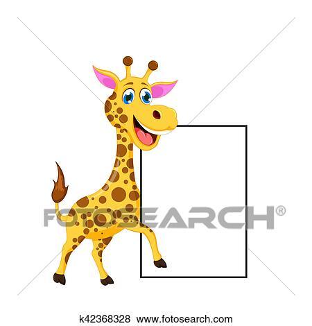 Dessin Girafe Rigolote banque d'illustrations - rigolote, girafe, dessin animé, vous