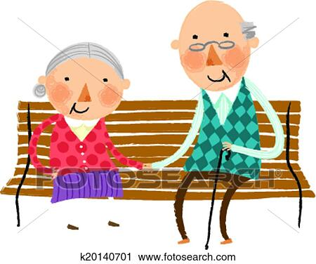clipart of the view of old couple k20140701 search clip art rh fotosearch com funny old couple clipart old couple clip art in the public domain