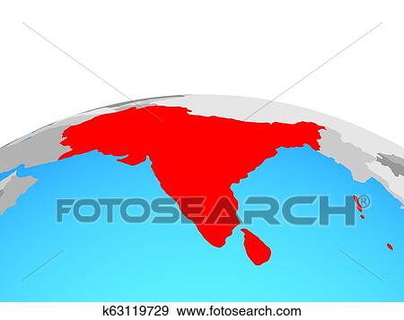 Map of South Asia on globe Stock Illustration | k63119729 ... Globe Map Of South Asia on map of world globe, map of north america globe, map of new zealand globe, map of middle east globe,