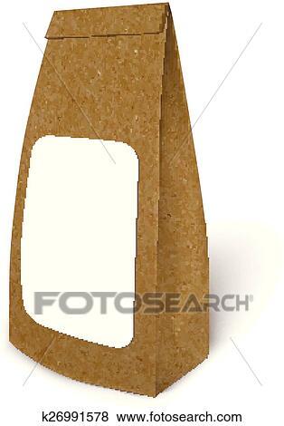 Mockup Folha Alimento Saco Pacote Clipart K26991578 Fotosearch
