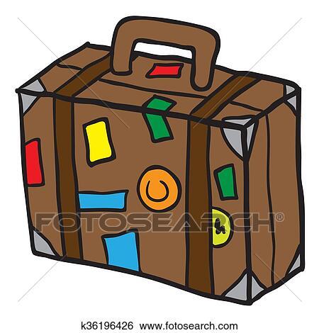 Clipart voyage valise k36196426 recherchez des - Dessin de valise ...