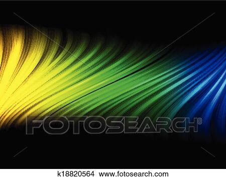 Bandiera Brasile Onda Verde Giallo Sfondo Blu Clipart K18820564