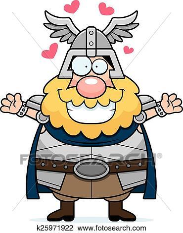 Clipart Of Cartoon Thor Hug K25971922 Search Clip Art