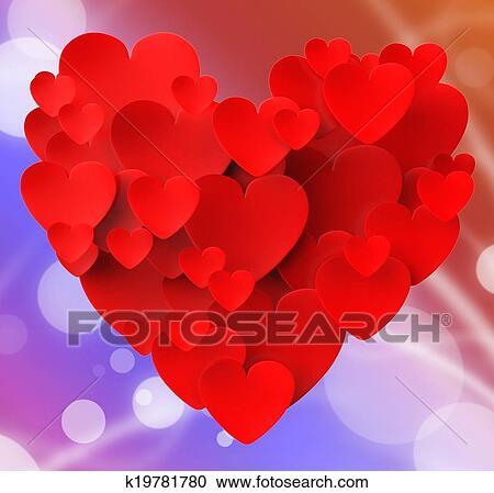 Banco De Fotografías Corazón Hecho Con Corazones Actuación
