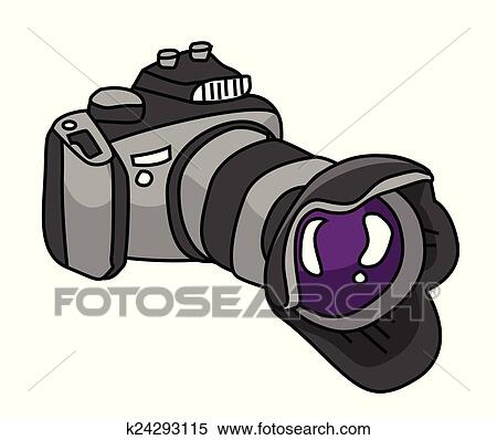 Dslr Appareil Photo Clipart K24293115 Fotosearch