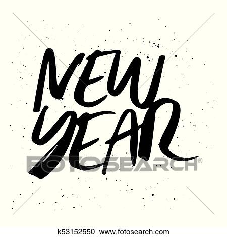Happy New Year Lettering Design 29