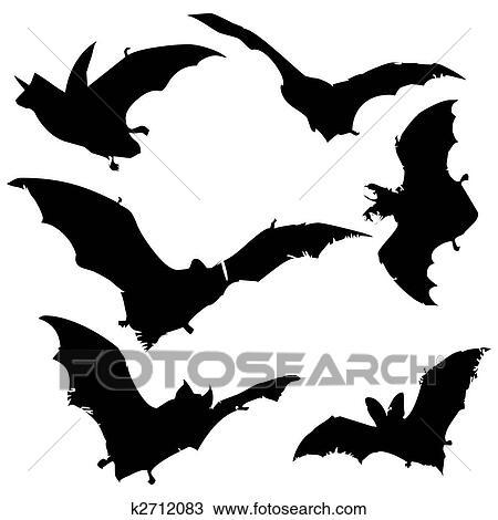 desenho morcego silhuetas k2712083 busca de imagens clip art