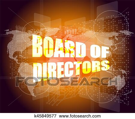 Picture of board of directors words on digital screen background board of directors words on digital screen background with world map gumiabroncs Choice Image