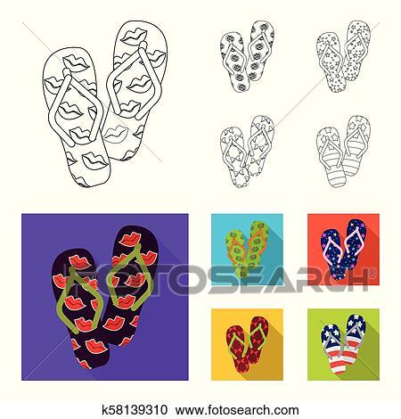 7e0bd29270a6 Flip-flops outline