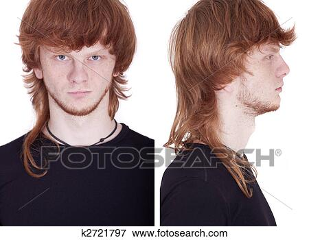 picture of front and side view of face k2721797 search stock