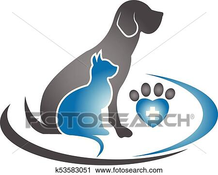 clipart of logo dog and cat icon k53583051 search clip art rh fotosearch com dog and cat cartoon clipart dog and cat clipart free