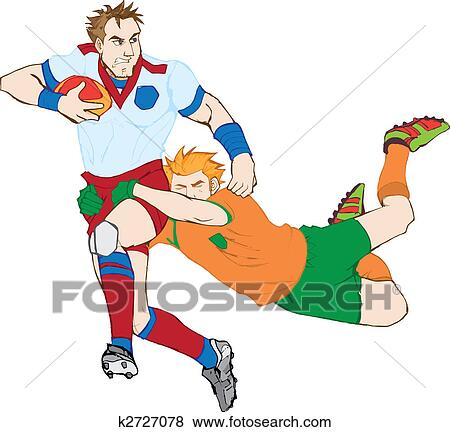 clip art of rugby players k2727078 search clipart illustration rh fotosearch com rugby clip art free rugby clipart pictures
