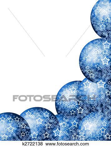 Stock Illustration Weihnachten Blau Ecke Rahmen K2722138
