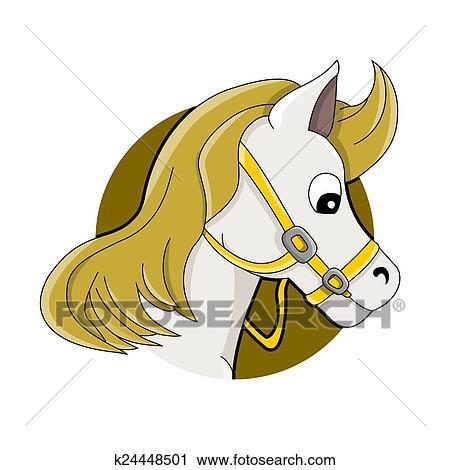 Clipart cheval t te dessin anim k24448501 recherchez des clip arts des illustrations - Clipart cheval ...