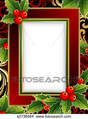 clipart christmas frame fotosearch search clip art illustration murals drawings and