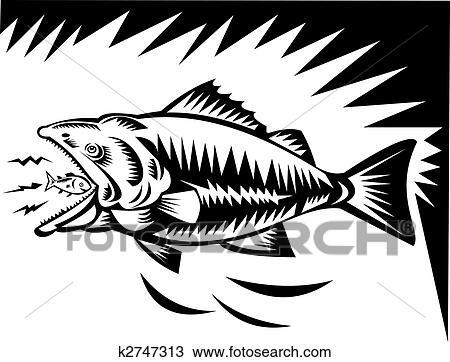 Big Fish Eating A Small Fish Drawing