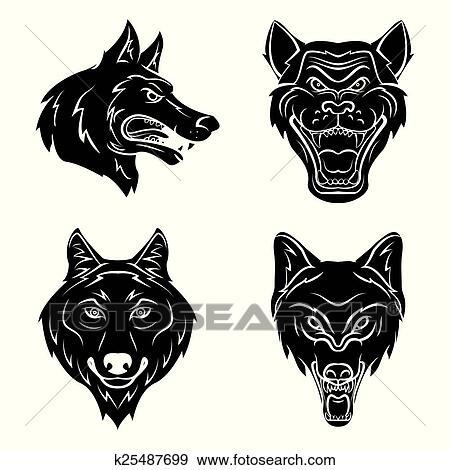 Cabeza Del Lobo Tatuaje Clip Art K25487699