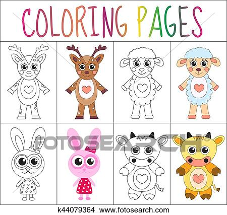 Coloring Book Pages Animals