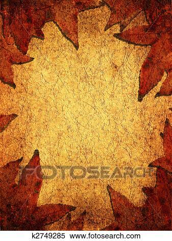 Dry leaves background Stock Illustration