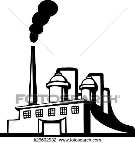 clipart of factory icon k26692932 search clip art illustration rh fotosearch com factory clip art silhouette factory clip art smoke stack