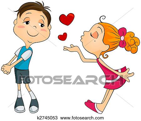 flying kiss images  Drawing of Flying Kiss k2745053 - Search Clipart, Illustration, Fine ...