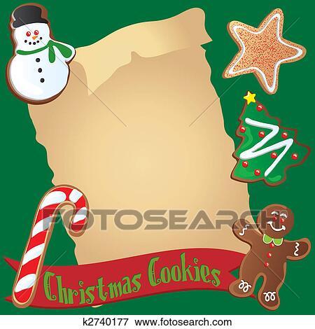 Weihnachtsplätzchen Clipart.Weihnachtsplätzchen Rezept Oder Einladung Clip Art