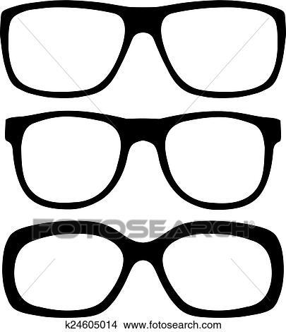 メガネ セット クリップアート切り張りイラスト絵画集