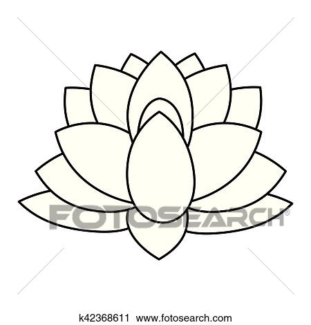 Indian Lotus Flower Clipart K42368611 Fotosearch