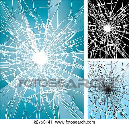 Janela, quebrada Clipart | k2753141 | Fotosearch