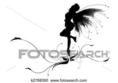 ダンス 妖精 クリップアート切り張りイラスト絵画集 K2768350