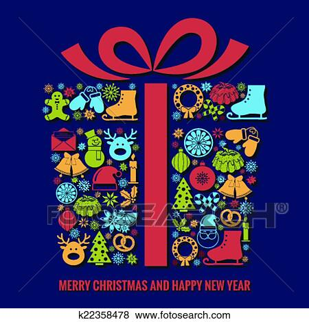clip art christmas and new year card template fotosearch search clipart illustration