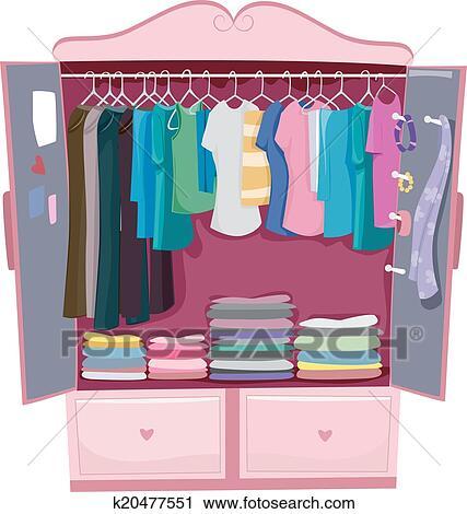 Clipart rose armoire k20477551 recherchez des clip - Dessin d armoire ...