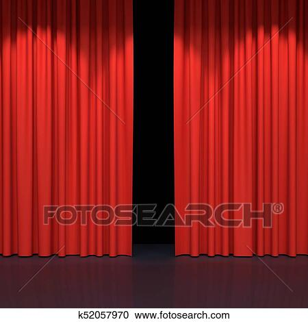 Red Stage Curtains Luxury Velvet Drapes Silk Drapery Realistic Closed Theatrical Cinema Curtain Waiting For Show Movie End Revealing New Product